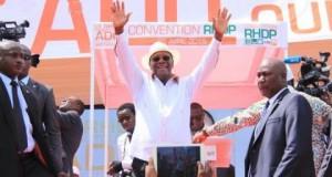 Côte d'Ivoire: le sortant Ouattara investi candidat de la coalition au pouvoir pour la présidentielle