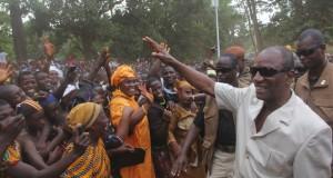 Le Président Alpha Condé à Beyla : Les populations mobilisées pour le changement