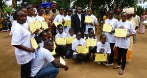 Remise de diplômes aux filles et femmes scolarisées au CFPP de Macenta