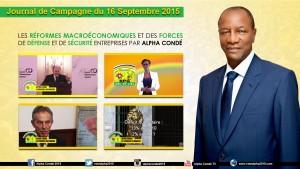 Journal de la Campagne du 16 Septembre - Réformes  Economie et FDS (1)