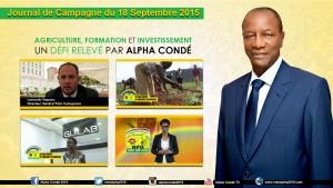 Journal de la Campagne du 18 Septembre - Agriculture,  Formation et Investissements