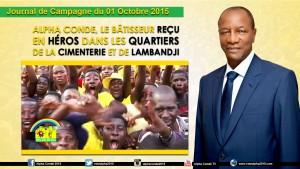 Journal de la Campagne du 1er Octobre 2015 - AC Cimenterie  Lamanyi