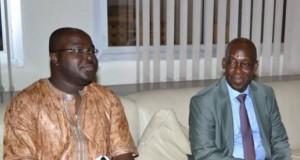 De la gauche vers la droite, Ibrahima Kalil Kaba et Dr Diané
