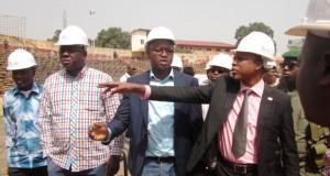 Le ministre Siaka Barry sur le chantier du stade du 28 Septembre : Guicopress, promet la fin des travaux le 27 février